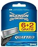 Wilkinson Sword Quattro 6+ 2lamette da barba, 8pezzi