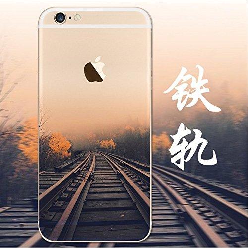 iPhone 6s Cover, MAOOY Bellissimo Paesaggio Modello Design Case per iPhone 6, Flessibile Ultra Sottile Leggero Bumper Copertura di Soft Gomma Sveglio Cristallo Gel Antiurto Protettiva per 4.7 Apple i Ferrovia