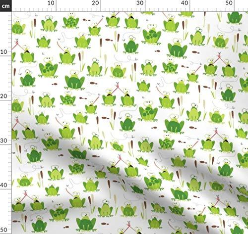 Frosch, Jungen, Strampelhosen, Tiere, Maulbeerbaum Stoffe - Individuell Bedruckt von Spoonflower - Design von Mulberry Tree Gedruckt auf Bio Musselin