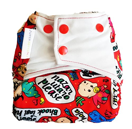 Superbottoms Cloth Diapers Superbottoms Plus Reusable All In One Cloth Diaper For Heavy Absorbency (All In One Cloth Diapers With Pocket) (Baby Talk)