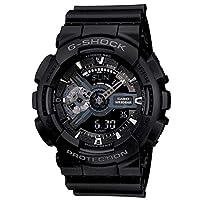 Casio G-Shock Watch For Men Quartz Analog-Digital Display and Resin Strap GA-110-1BDR