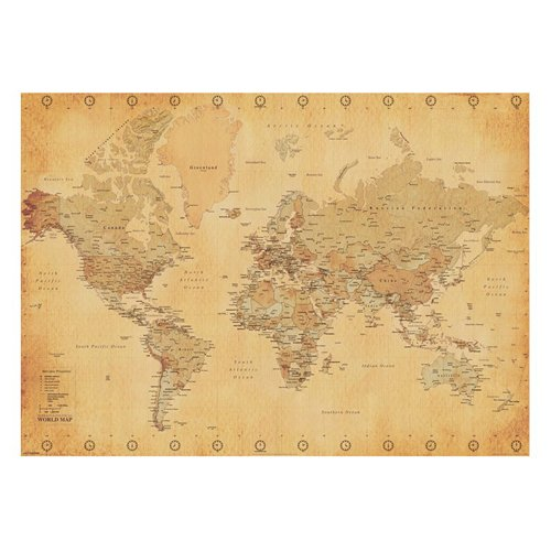 Large map of the world amazon pyramid international world map vintage style giant poster paper muticolour 10 x 140 x 13 cm gumiabroncs Image collections