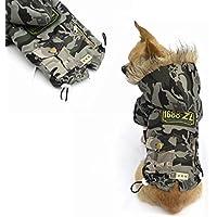easyshop Cane gatto abbigliamento invernale camuffamento cappotto cane da compagnia vestiti di cotone imbottito