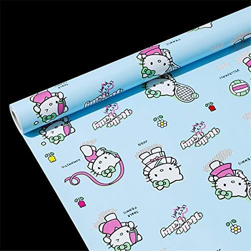 hutz PVC Selbstklebende Selbstklebende Tapete Schlafzimmer Wohnzimmer Wand Papier Fliese Nachahmung wasserdichte wasserdichte Tapete-45CMX10M ()
