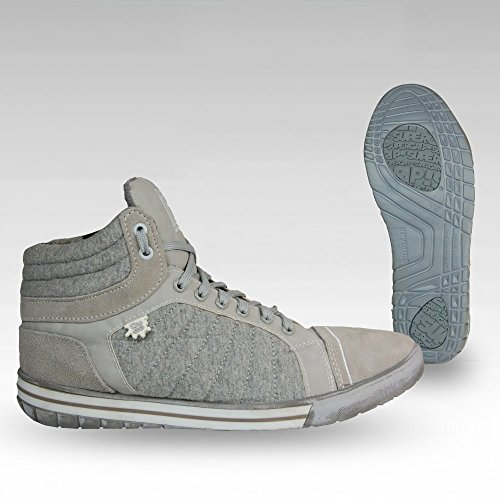 Dude Shoes Men's Mid Boot Canvas/Suede Sneakers Grey