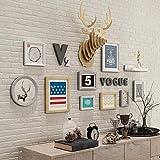Foto an der Wand Hirsch Kopf Dekoration Kombination Bilderrahmen Restaurant Schlafzimmer Sofa Hintergrund Wand (Farbe : B)