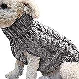 germair Maglione Caldo Invernale Lavorato a Maglia Morbido per Cani di Piccola Taglia Casa e Cucina