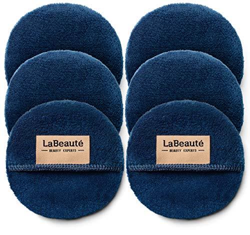 LaBeauté Make-Up Entferner-Pads (6 Stück), Gesichtsreinigung und Abschminkpads, waschbar und wiederverwendbar (Navy-Dunkelblau)