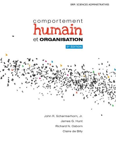 Comportement humain et organisation 5e édition : Manuel + Édition en ligne + MonLab - ÉTUDIANT (12 mois)