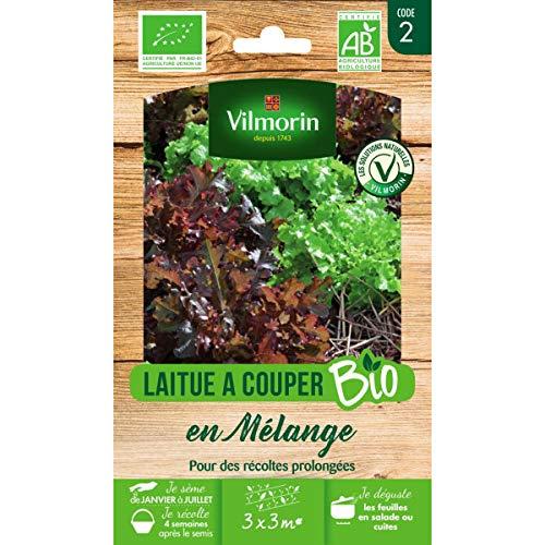 Vilmorin Sachet graines Laitues à Couper en Mélange Bio - Lactuca Sativa