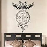 JJHR Stickers Muraux Hibou Motif Rêve Attrape Mur Mural Art Rêve Attrape Sticker Mural Amovible pour Home Decor Autocollants 85 * 55 Cm