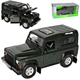 Welly Land Rover Defender 90 Grün 3 Türer 1/24 Modell Auto