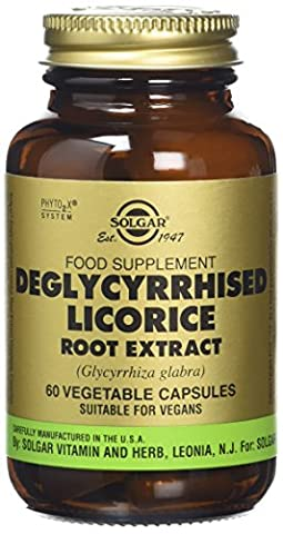 Solgar Deglycerrized Licorice Root Extract Vegetable Capsules - Pack of 60