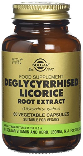 Solgar Deglycerrized Licorice Root Extract Vegetable Capsules - Pack of 60 Test