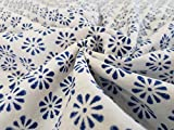 #4: 5 Meter hand block printed little Butti print staple rayon cotton fabric