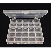 Caja para Bolillos Bobinas Canillas Vacías para Máquina de Coser (Plástico) Transparente
