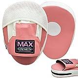 MAXSTRENGTH Pink Curved Fokus Pads Haken Und Jabs Handschuhe Boxsack Handschuhe Boxen MMA Kick Training