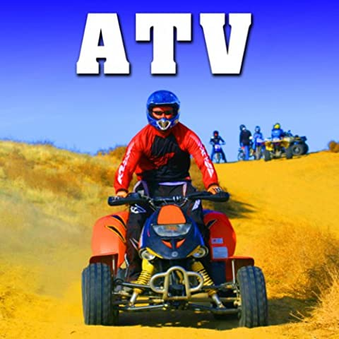 450 CC Atv 4x4 Starts, Idles & Pulls Away at Fast Speed on Asphalt Road from Rear Perspective