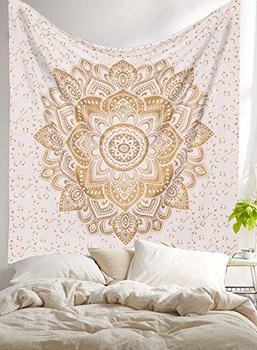 metallic-glanz-golden-handgefertigt-twin-tapisserie-von-raajsee-ombre-betten-mandala-wandteppich-mul