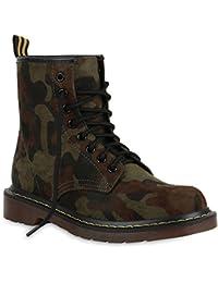 07f3194c0ab741 Stiefelparadies Unisex Damen Herren Stiefeletten Worker Boots Profilsohle  Flandell