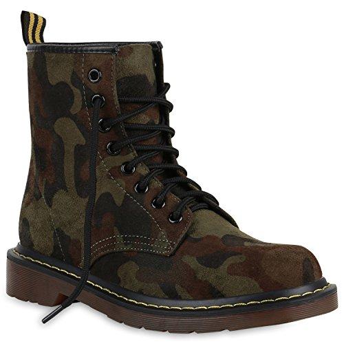 Damen Outdoor Worker Boots Glitzer Stiefeletten Profil 149963 Camouflage Glitzer 41 Flandell