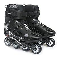ZCRFY Roller Skates Inline Skate No Fear Sports Skate Children Adjustable Skates For Men And Women - Gifts For Kids,Black-42