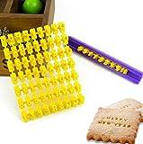HENGSONG DIY Fondant Werkzeug, Alphabet Buchstaben Anzahl Cookies Keks Torten Gebäck Stempel Embosser Prägestempel Ausstecher