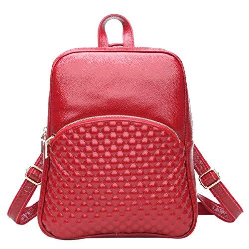 Ragazza Multiuso Moda Cool Casual Zaino A Spalla Borse Multicolor Rosso