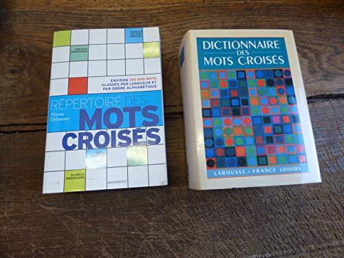 lot de 2 dictionnaires de mots croisés : répertoire des mots croisés de Tristan Delamare - dictionnaire des mots croisés par Tristan Delamare