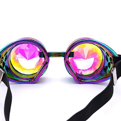 alloween Kaleidoskop Bunte Gläser Rave Festival Party EDM Sonnenbrille Diffracted Objektiv (Mehrfarbig) (Auge Herz Halloween 2017)