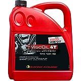 Racing Dynamic Motorrad-Motoröl 4-takt Motoröl Viscoil 4T SAE 10W-40 teilsynthetisch 4000 ml, Unisex, Multipurpose