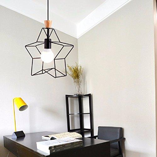 KHSKX Ristorante Nordic Lampadario in legno, Lampadario in ferro, balcone corridoio Bar LED lampadari, Lampadario (Occidentale Del Metallo Di Arte)