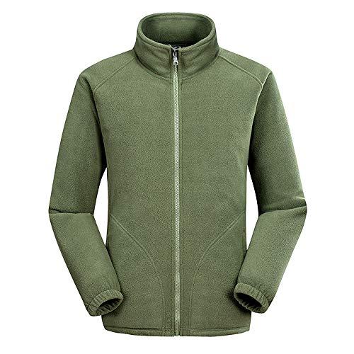 Price comparison product image NPRADLA Men's Autumn and Winter Hoodie Zipper Patchwork Double Fleece Sweater Zipper Collar Long Sleeve Coat