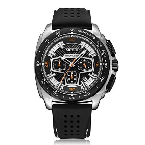 SBDONGJX Montre de Sport Hommes Relogio Masculino Mode Silicone Quartz Montres Horloge Hommes Armée Armée Montre xfcs