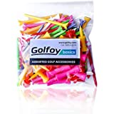 Golfoy Basics Assorted Mixed Colored Plastic Tees (100 Count)