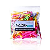 #5: Golfoy Basics Assorted Mixed Colored Plastic Tees (100 Count)