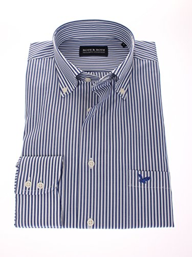 778615 - Bots & Bots - Chemise Homme - Comfort Stretch - 97% Coton / 3% Lycra - Button Down -Normal Fit Navy