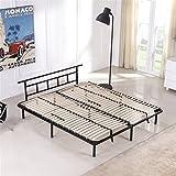 i-flair Metallbett 160x200 cm, Futonbett - für alle Matratzen geeignet