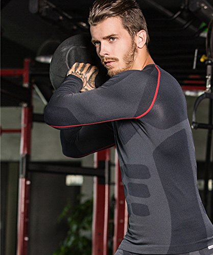 GearFan-Mens-3-Pack-Athletic-Compression-Long-Sleeved-Base-Layer-Sport-Shirt