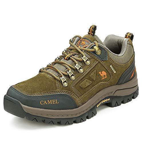 CAMEL CROWN Unisex Wasserdichte Wanderschuhe Trekking Schuhe Atmungsaktive Sports Outdoor Hiking Sneaker Bergschuh für Gym Wandern Klettern Reisen Täglichen Gebrauch Junior Trainer