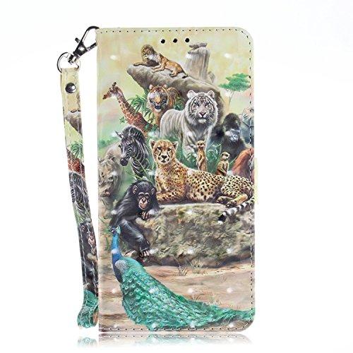 vingarshern Hülle für Oukitel C5 Schutzhülle Etui Tasche Klappbares Magnetverschluss Lederhülle Flip Case Handytasche Oukitel C5 Hülle Leder Brieftasche MEHRWEG(Zoo)
