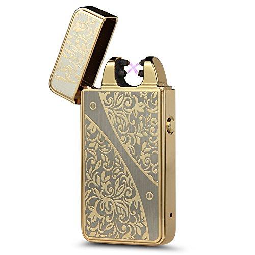 Kivors&reg Zeichnung Elektronisches Feuerzeug tragbar USB aufladbar dopple Lichtbogen tragbar
