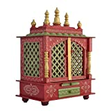 LED Light Home Temple/Pooja Mandir/Wooden Temple/Temple for Home/Mandap