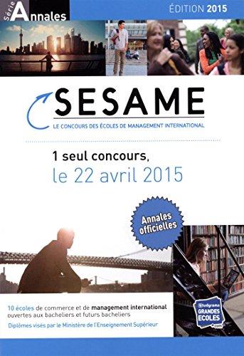 Concours Sésame : Annales 2014-2015 : sujet et corrigés officiels