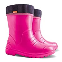 Demar Kids Rain Wellington Rainy Snow Boots Shoes Socks Children Baby Wellies Boy Girl Pink