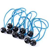 10x Strong Tarpaulin Elasticated Ball Bungee Cords - Boat Cover/Tarp Tie Down Set 1