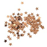 #6: Segolike Golden Star Table Confetti PVC Stars Sequin for Party Wedding Decorations