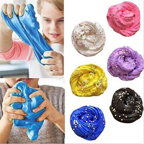 Bighub Intelligent Plasticine Kids Toy Fluffy Floam Slime Scented Stress Relief No Borax Sludge Toy Slime Toys For Children Pink