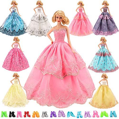 213306a0300a Miunana 16 Articoli Per Bambola Barbie Dolls   6 PCS Moda Premium Fatto a  Mano Morbido