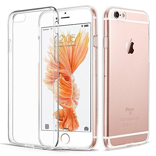 iPhone 6 Plus 6S Plus Hülle, Vkaiy iPhone 6S Plus 6 Plus Schutzhülle, Transparent Ultra Dünn Handyhülle - Soft Silikon Crystal Durchsichtig TPU Bumper Backcover Case für iPhone 6/6S Plus (5,5')